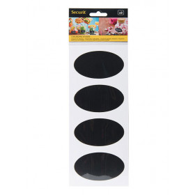 Pack of 8 Oval Self-Adhesive Chalkboard Stickers