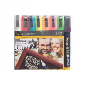 Liquid Chalk Pens - Pack of 8 Bright Colours – Size Medium 2-6 mm Nib
