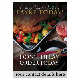 Personalised Christmas Fayre Orders Butchers Promotional Poster