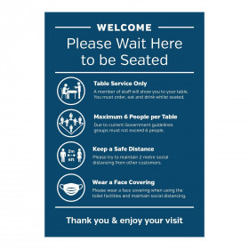 Outdoor Seating - Welcome please wait here to be seated