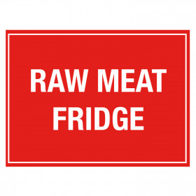 Raw Meat Fridge Storage Notice - Self Adhesive Vinyl