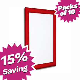 Pack of 10 - A4 & A3 Red Snap Poster Frames - Saving of 15%