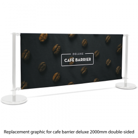 Replacement Graphic for 2000 Double-Sided Deluxe Café Barrier