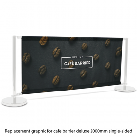 Replacement Graphic for 2000 Single-Sided Deluxe Café Barrier