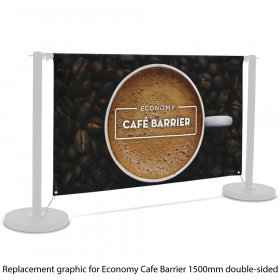 Replacement Graphic for 1500mm Double-Sided Economy Café Barrier