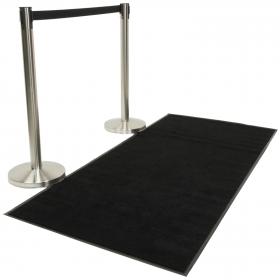 Rope Barrier Black Carpet