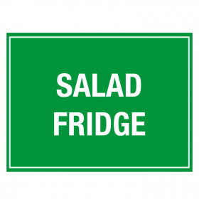 Salad Fridge Storage Sticker