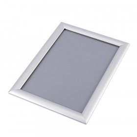 Satin Silver 25mm Poster Display Snap Frames