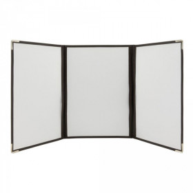 A4 Size Crystal Clear Transparent Triple A4 Menu Holders / Covers. Pack of 3