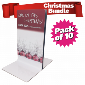 Christmas Menu Holder Bundle Single Channel