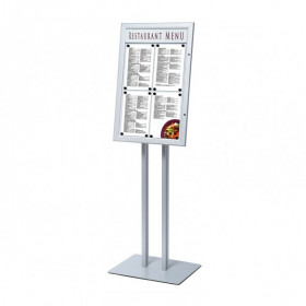A2 Lockable Personalised Poster Display Stand / Menu Display Stands
