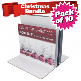 Christmas Menu Holders Bundle Triple Channel