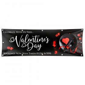 Valentines Dinner for Two Vinyl Banner