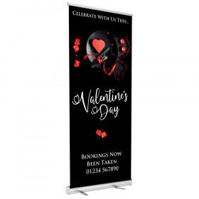 Valentines Dinner for Two Roller Banner