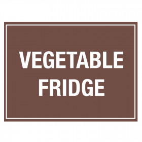 Vegetables Fridge Storage Sticker