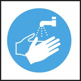 Wash Hands Safety Symbol sticker