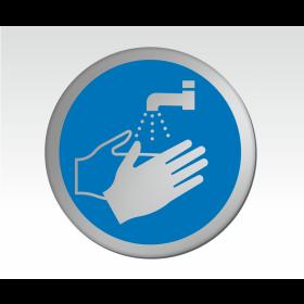 Wash Hands Symbol Door Disc