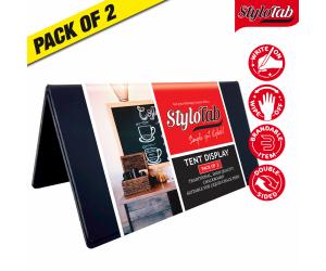 Freestanding Tabletop tent type blackboard message display. Pack of 2