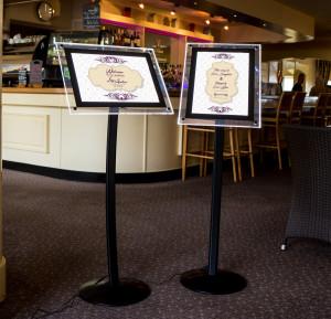 LED Menu Display Stands / LED Poster Display Stands