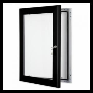 Black Lockable Poster Display Cases / Menu Display Cases