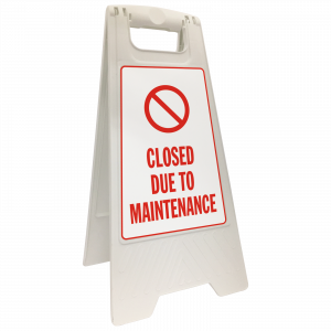 Closed Due to Maintenance Floor Stand