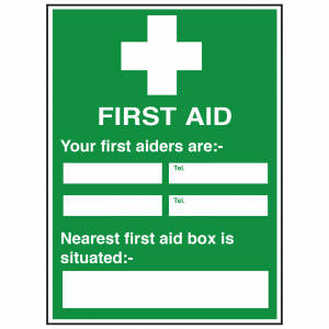 Detailed First Aiders Sign