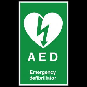 AED Emergency Defibrillator Sign