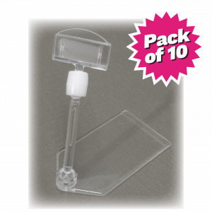 Multi-Angle Price Ticket Holders. Pack of 10