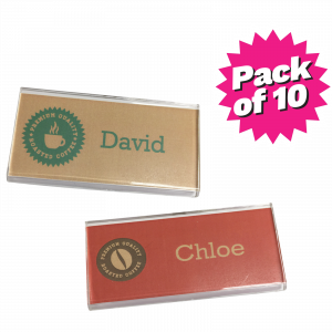 Flat Multi-Purpose Clear Acrylic Name Badges - Pack of 10