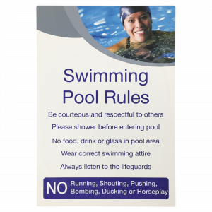 Detailed Swimming Pool Rules Notice