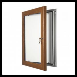 Dark Wood Lockable Poster Display Cases / Menu Display Cases
