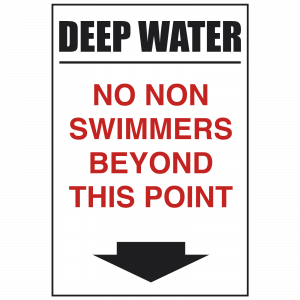 Deep Water - No-non Swimmers Safety Sign