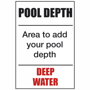 Deep - Custom Made Pool Depth Safety Sign