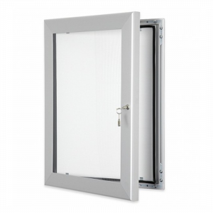 Silver Lockable Poster Display Cases / Menu Display Cases