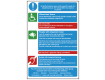 Physically Impaired and Disability - Fire Action Safety Sign