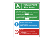 Refuge Point - Fire Action Safety Sign