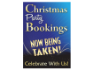 Christmas Party Bookings Now Being Taken Waterproof Poster - Blue