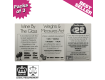 Challenge 25, Weights & Measures, Wine by the Glass - Pub & Bar Notices - Packs of 3