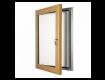 Light Wood Lockable Poster Display Cases / Menu Display Cases