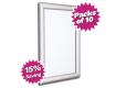 Pack of 10 - A4 & A3 Satin Silver Snap Poster Frames - Saving of 15%