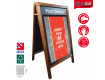 Premium Snap poster Frame Wooden Chalkboard Pavement A-boards