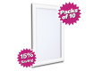 Pack of 10 - A4 & A3 White Snap Poster Frames - Saving of 15%