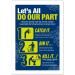 Coronavirus Prevention Catch it, kill it, bin it Poster