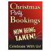 Christmas Party Booking Poster