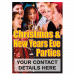 Personalised Work Christmas Party Poster | Advertise for Christmas | Christmas POS