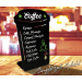 Coffee specials shaped blackboards