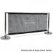 Deluxe Café Barrier 2000mm Full Kit