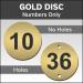 Gold Engraved table / locker number discs