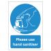 Please use the hand sanitiser provided vinyl sticker