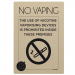 No Vaping Inside These Premises Notice